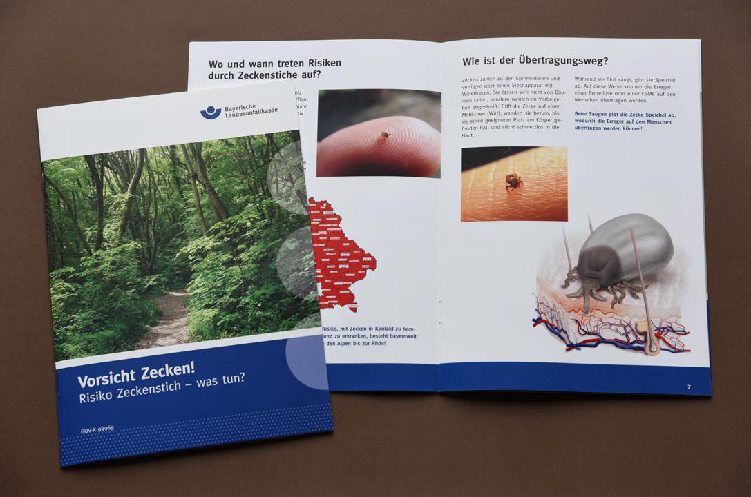 print   BAYERISCHE LANDESUNFALLKASSE   Brochure Vorsicht Zecken