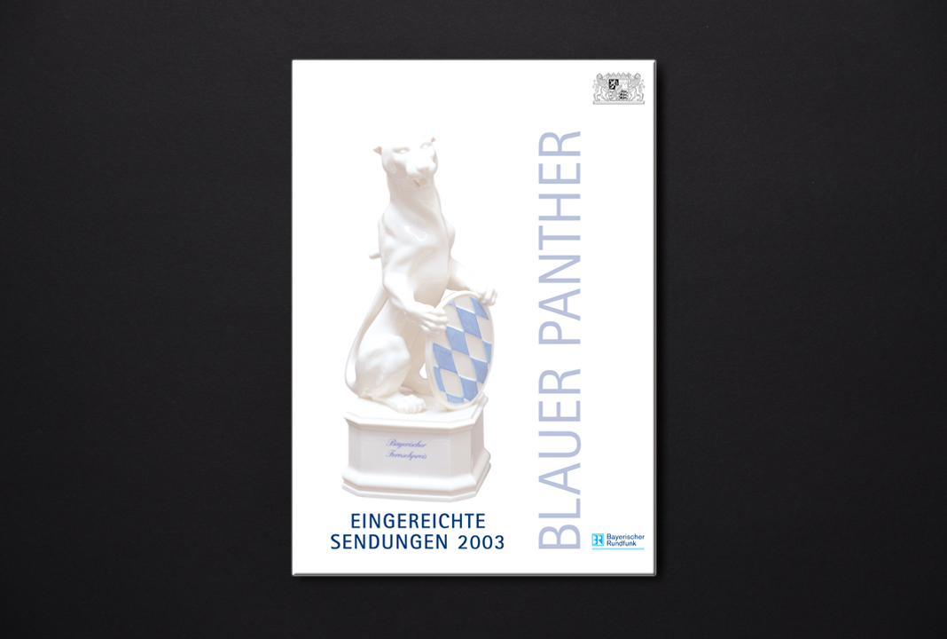 print   BAYERISCHE STAATSKANZLEI   Bayerischer Fernsehpreis - Blauer Panther