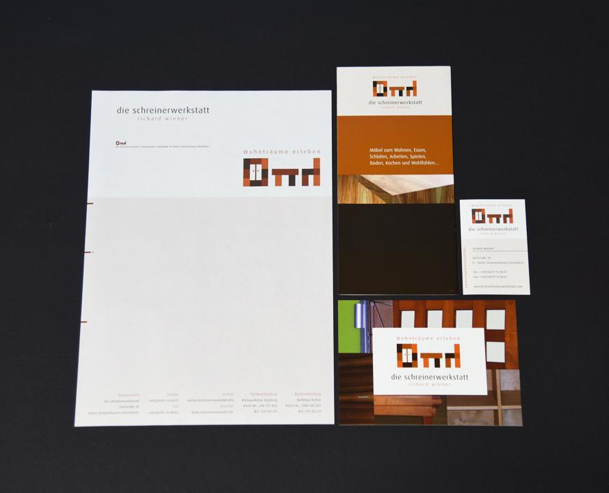 print   DIE SCHREINERWERKSTATT   Corporate design