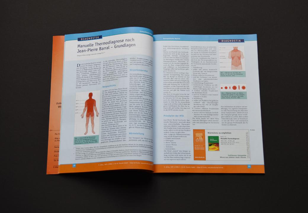 print   ELSEVIER (Publishing house)   Medical magazine Osteopathische Medizin (Content)