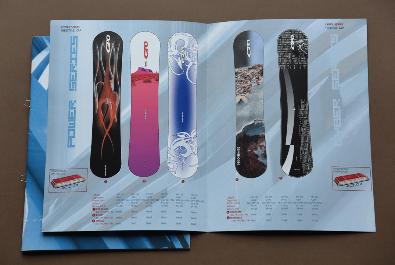 print   GPO   Snowboard design and brochure