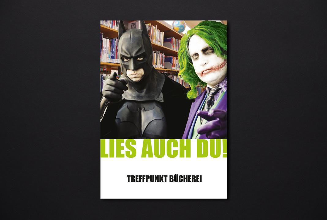 print   SANKT MICHAELSBUND   Poster campaign Treffpunkt Bücherei - Lies auch Du!
