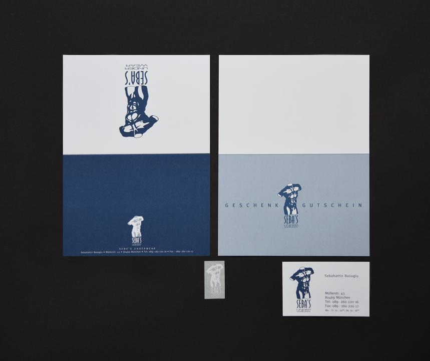 print   SEBA'S UNDERWEAR   Corporate design
